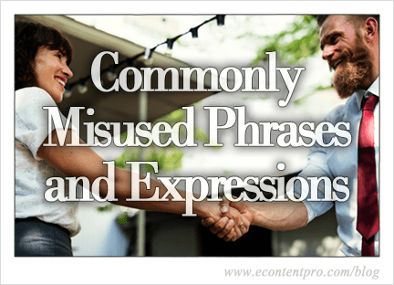 Commonly Misused Phrases and Expressions in the English Language